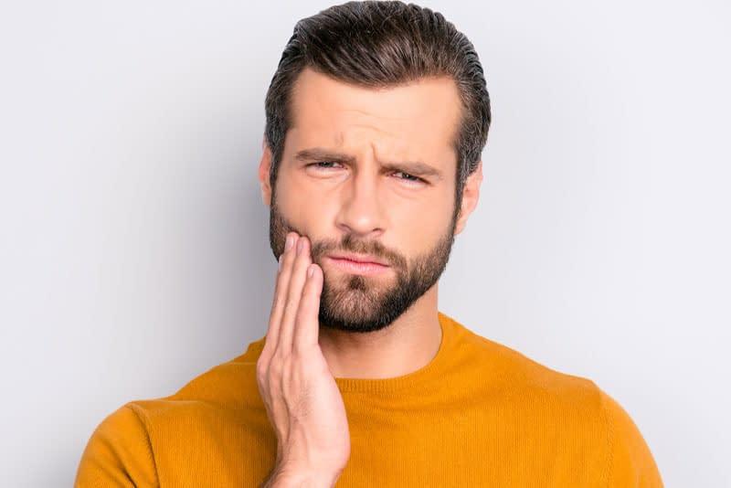 dental patient with gum disease