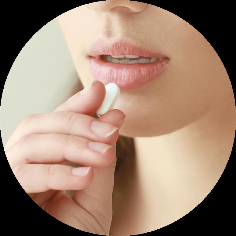 dental patient taking oral sedation
