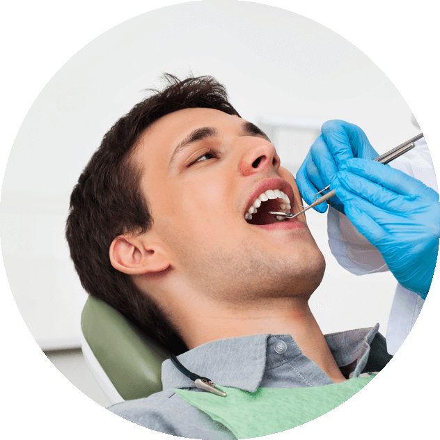 patient undergoing dental procedure