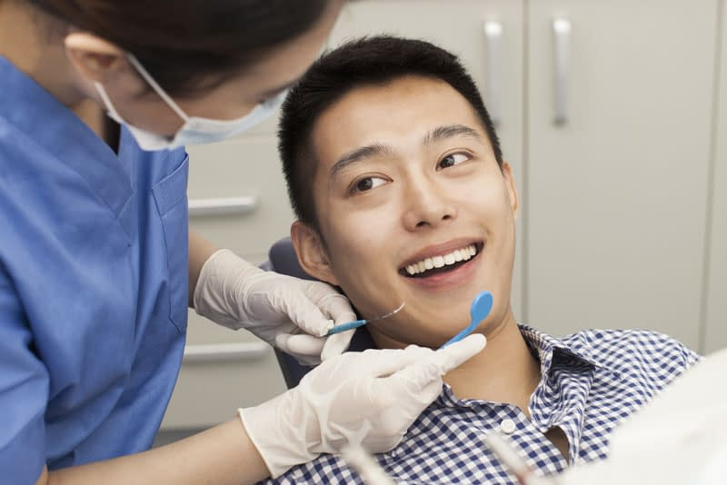 dental patient undergoing procedure