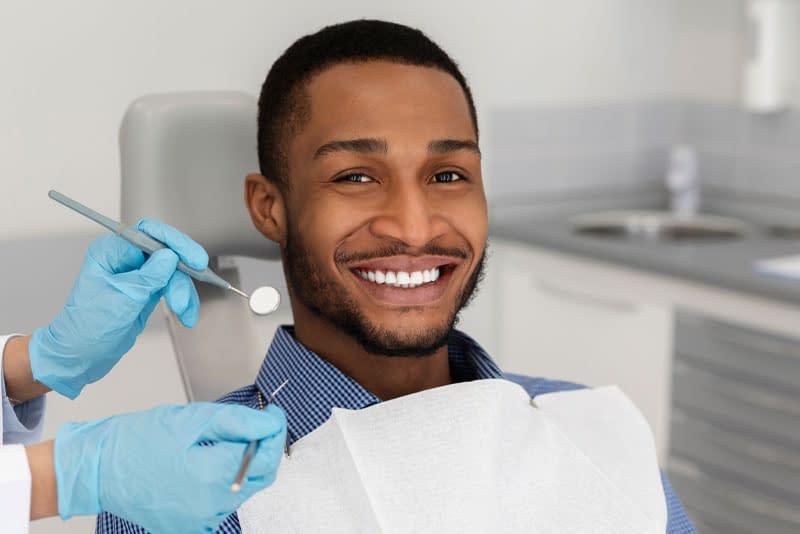dental patient smiling after procedure