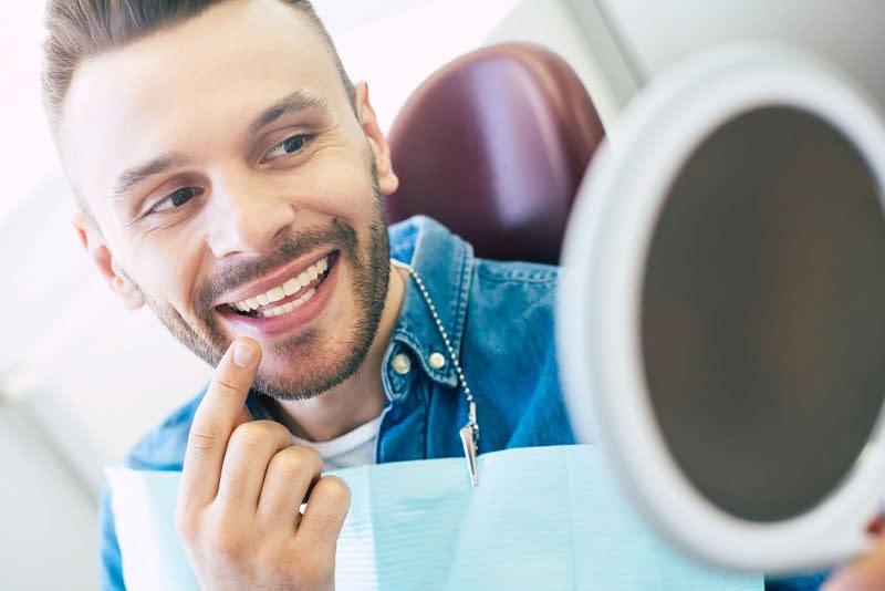 dental patient smiling